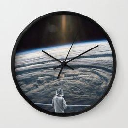 Looking back at earth ... Wall Clock