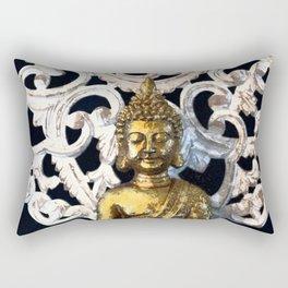 Gold Buddha Om Rectangular Pillow