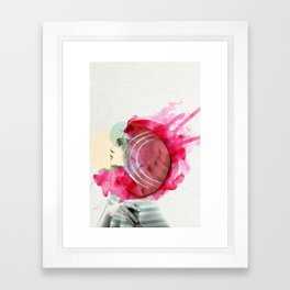 Bright Pink Framed Art Print
