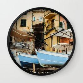 pastel city Wall Clock