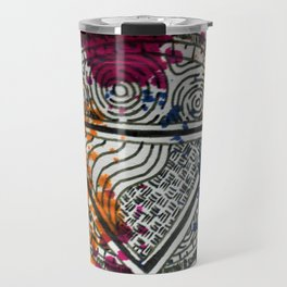 Splotchy Medallion Travel Mug