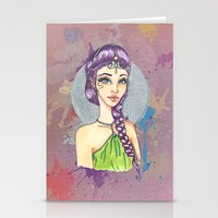 princess Stationery Cards featuring Princess by Lagoonartastic