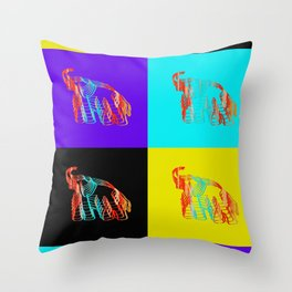 Seeing Double Elephants Throw Pillow