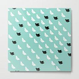 Flock of pigeons Metal Print