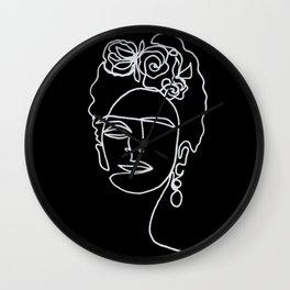 Frida Kahlo BW Wall Clock