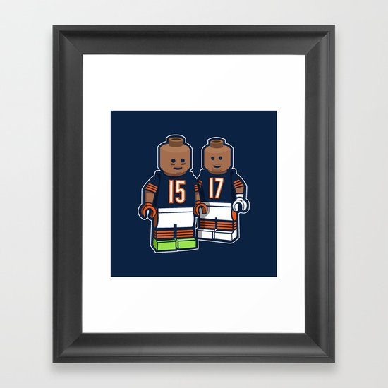 Bears Bricked: Brandon Marshall & Alshon Jeffery Framed Art Print