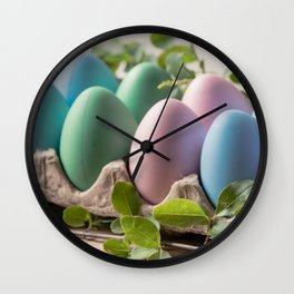 Easter Eggs 24 Wall Clock