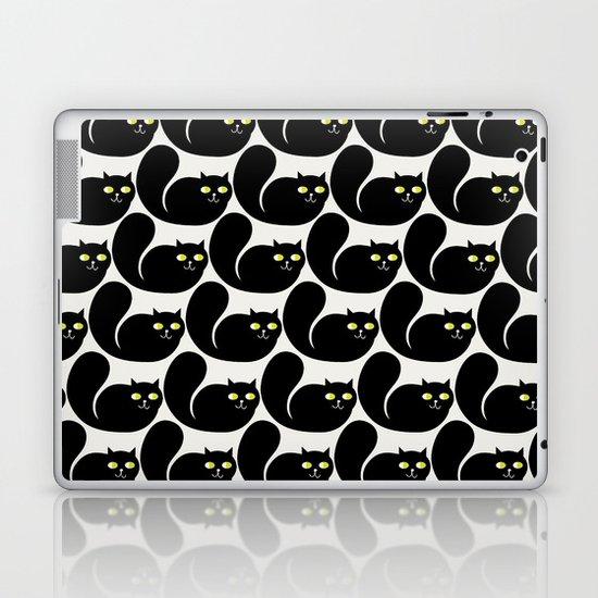 Black CATS Laptop & iPad Skin