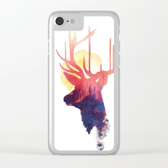 The burning sun Clear iPhone Case