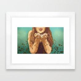 Miss Apprehension Framed Art Print