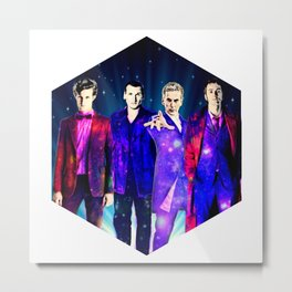 The Doctors: Galaxy Suits Metal Print