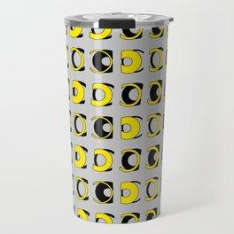 For Type Lovers. C. Futura. Yellow Travel Mug