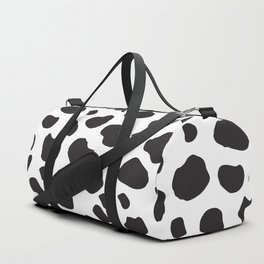 Animal Print (Cow Print), Cow Spots - White Black Duffle Bag