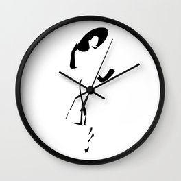 ''Nowhere Collection'' - Chic Woman Print Wall Clock