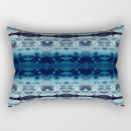 Boho Ombre' Blues Rectangular Pillow