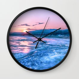 Baikal sunrise Wall Clock