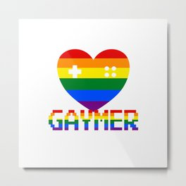 GAYmer at Heart Metal Print