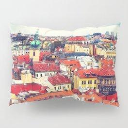 Prague panorame city Pillow Sham