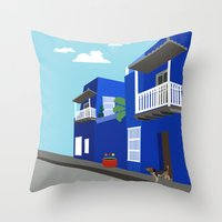 colombia Throw Pillows featuring Colombia  by Design4u Studio