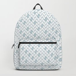 Abstract blue waves on white Backpack