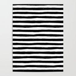 Black Bold Stripes Poster