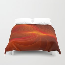 Much Warmth, Abstract Fractal Art Duvet Cover
