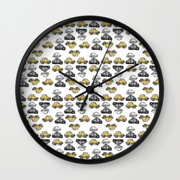 Funny cars Wall Clock