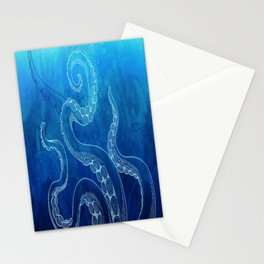 Octopus Tentacles Watercolor Stationery Cards