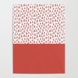 Triangles Fiesta Red Poster