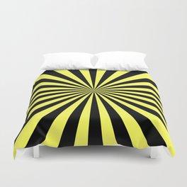 Starburst (Black & Yellow Pattern) Duvet Cover
