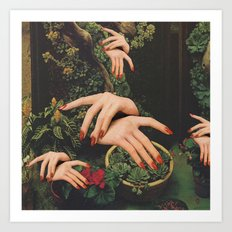 Touch Plants Art Print