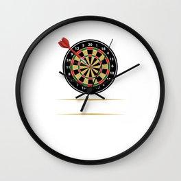 I'd Hit That Dart Board Darts Player Bullseye Wall Clock