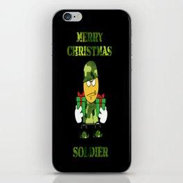 Merry Christmas emoji soldier iPhone Skin