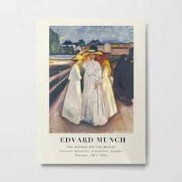 Vintage poster-Edvard Munch -The Woman on the bridge (Thielska Galleriet). Metal Print