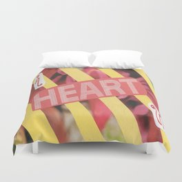 I Heart U. Duvet Cover