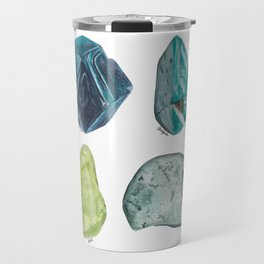 Illuminated Structure: Blue and Green Travel Mug