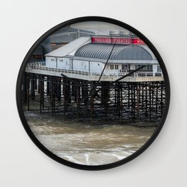 Cromer pier on the North Norfolk coast Wall Clock