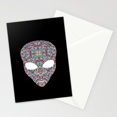 Rainbow Alien Stationery Cards