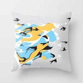 I'm like a bird Throw Pillow