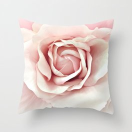 Shabby Chic Pastel Pink Rose Throw Pillow