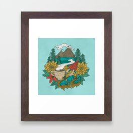 Pacific Northwest Coffee and Nature Framed Art Print