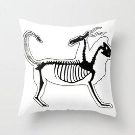 Chimera Skeleton Throw Pillow