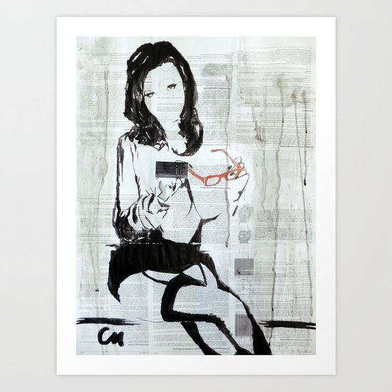 Secretary.  Art Print