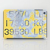numbers iPad Cases featuring Big Numbers  by Ethna Gillespie