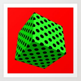 All Boxed Up Series - 3D Art Green & Red Art Print