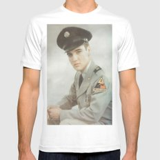 Hell on Wheels MEDIUM White Mens Fitted Tee