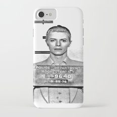 Bowie, David Mugshot (1976) Rochester, N.Y. iPhone 7 Slim Case