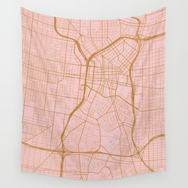 San Antonio map, Texas Wall Tapestry