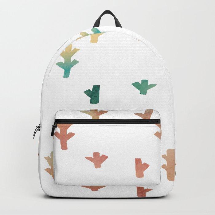 Colorful Boho tree pattern Backpack