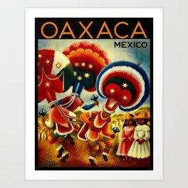 Oaxaca Mexico Vintage Travel Art Print